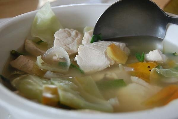 Receta de sopa de pescado en blanco