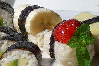 Receta de sushi dulce