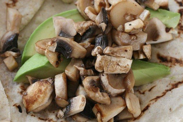 Receta de tacos de champiñones