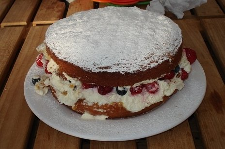 Receta de tarta cumpleaños