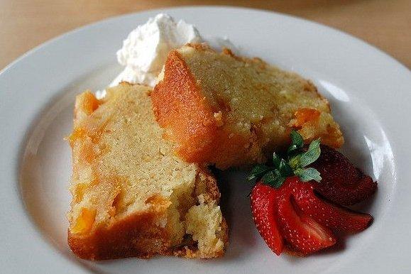 Receta de tarta de melocotón en almíbar