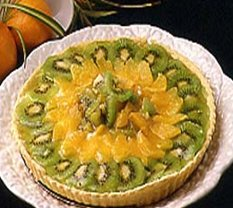Receta de tarta de naranjas y kiwis