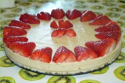 Receta de tarta de queso philadelphia con fresas