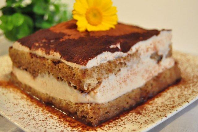 Receta de tarta de tiramisú casera
