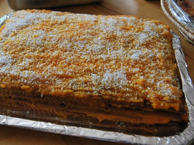 Receta de tarta de zanahorías