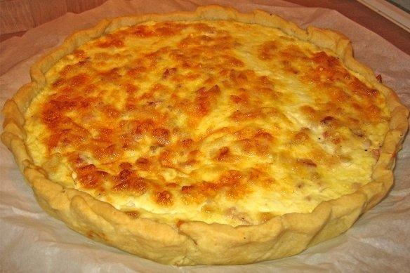 Receta de pastel de bacon y queso