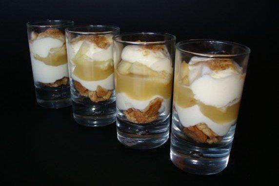 Receta de tiramisú de manzana
