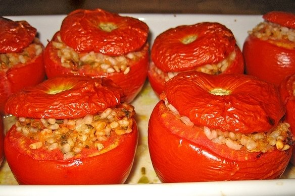 Receta de tomate relleno