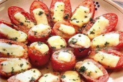 Receta de tomates al horno con mozzarella