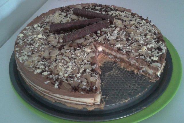Receta de torta tres chocolates