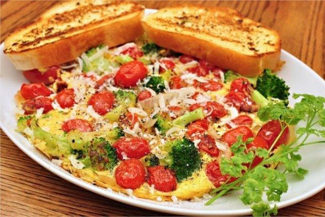 Receta de tortilla con verduras