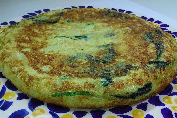 Receta de tortilla de espinacas