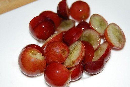 Receta de uvas en almíbar