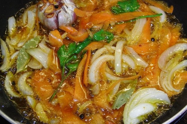 Receta de verduras en escabeche
