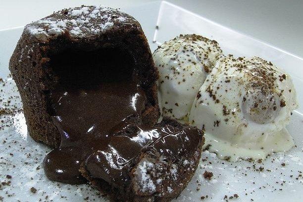Receta de volcán de chocolate